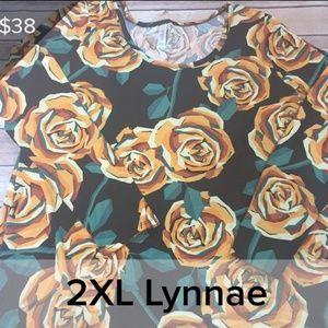 LulaRoe 2XL Lynnae with Yellow Roses NWT